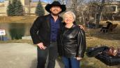 Paul Brandt & Joy Smith pausing for a break during the filming of her documentary on human trafficking.